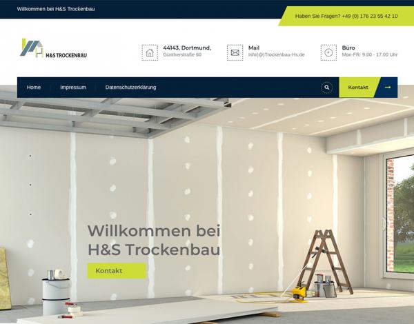 Homepagestaltung Trockenbau